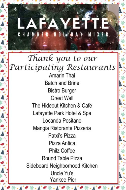 Thank you to our Participating Restaurants!