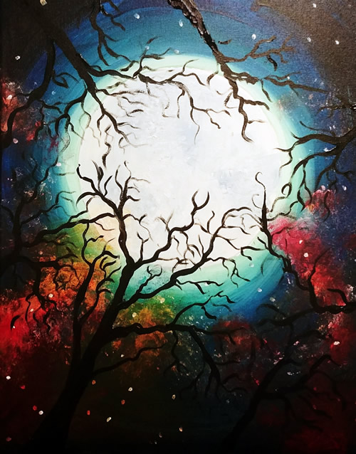 Big Bright Moon Paint and Sip Event at Felisita's Mexican Ca