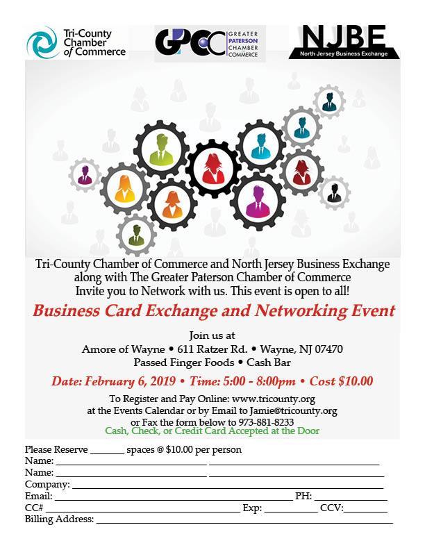 Tri-CountyCC • NJBE • GPCC Networking Business Card Exchange