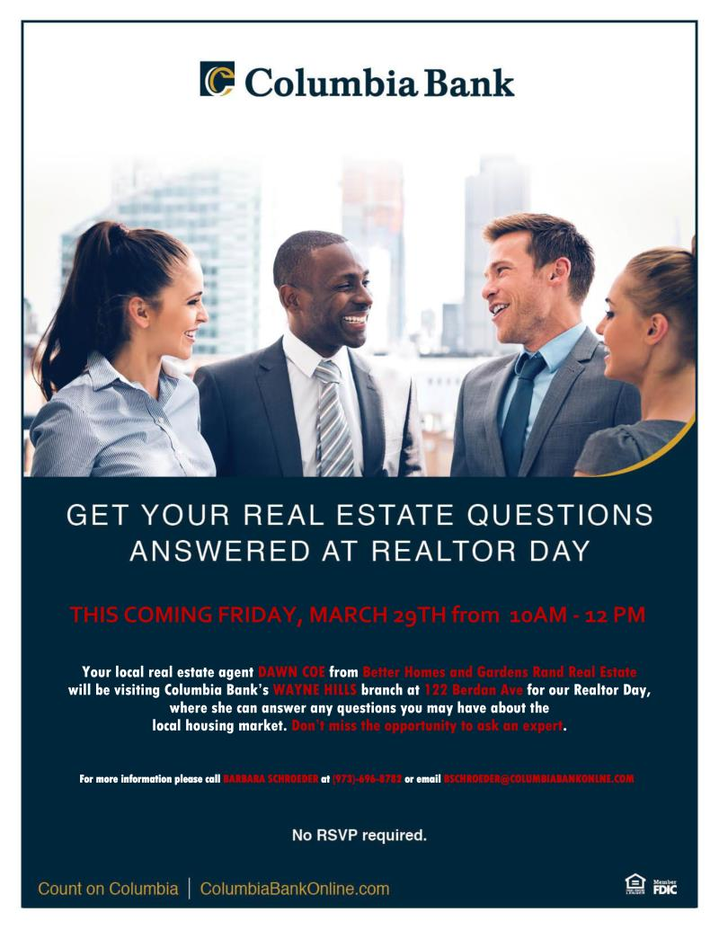 Columbia Bank's Realtor Day