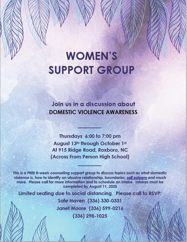 Safe Haven Woman's Support Group