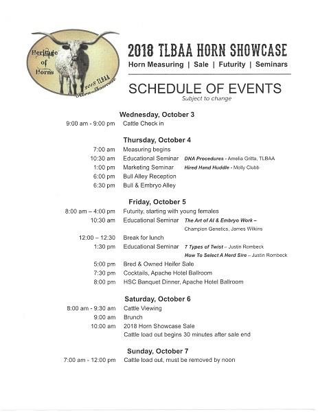 Texas Longhorn Breeders Association - Horn Showcase