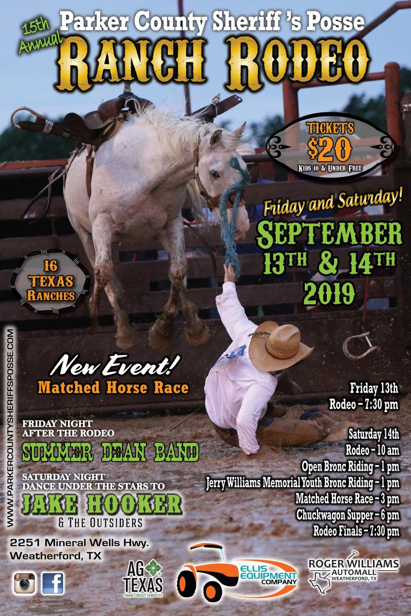 PCSP RANCH RODEO & JAKE HOOKER & THE OUTSIDERS